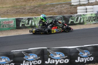 Liam McLellan took the JC Kart to victory in Melbourne