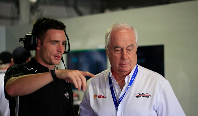 Scott Pye with Roger Penske at the Clipsal 500
