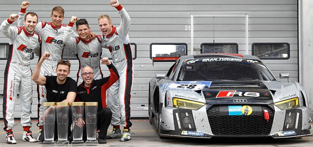 Audi celebrates victory at the Nurburgring 24 Hour with new R8