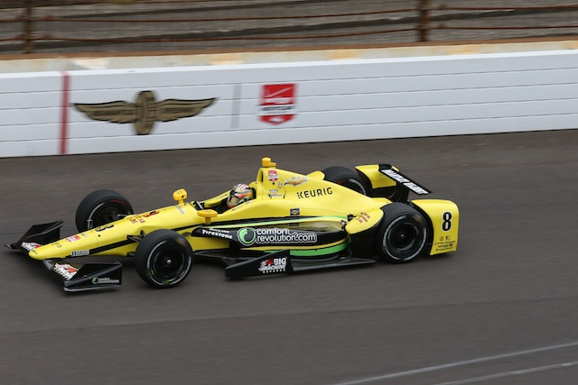 Sage Karam claims fastest lap in opening practice for the Indy 500 to be run on May 24