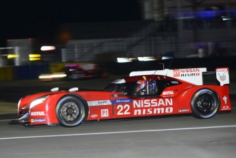 Harry Tincknell helped move the #22 Nissan he is sharing with Michael Krumm and Alex Buncombe up to 21st late  in qualifying