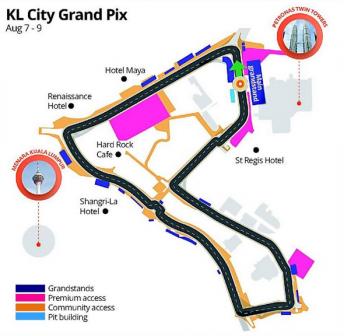 The KL City GP layout