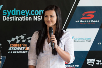 Renee Gracie at today's Bathurst event launch