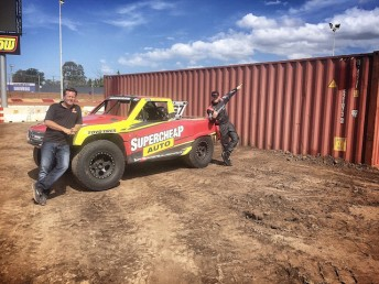 Burt Jenner at Sydney's Valvoline Raceway during the track preparation ahead of Saturday night's unique double-header with the Sprintcars