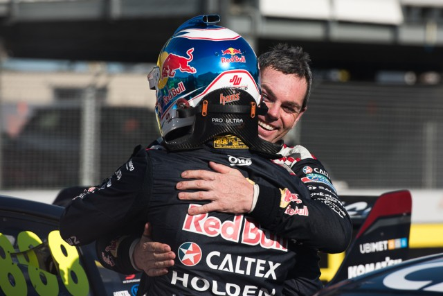 Lowndes and Whincup embrace post-race