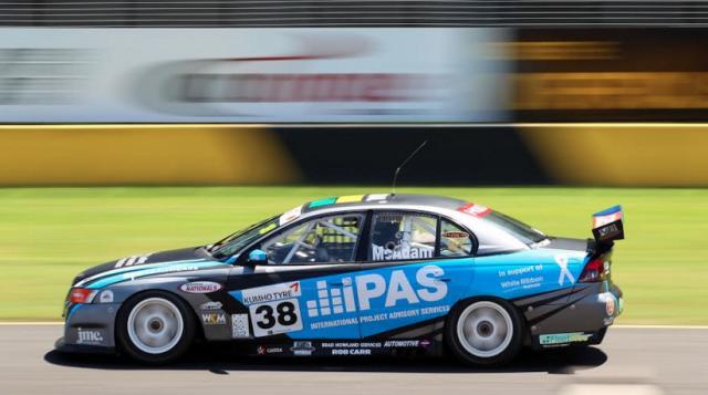 Liam McAdam in action during opening practice in Sydney