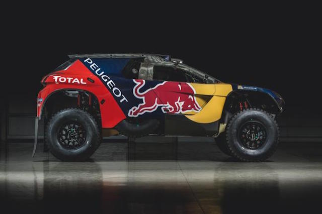 Peugeot's livery for the 2008 DKR ahead of next month's Dakar rally