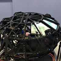 The simulator at Dallara's state-of-the-art IndyCar factory at Indianapolis