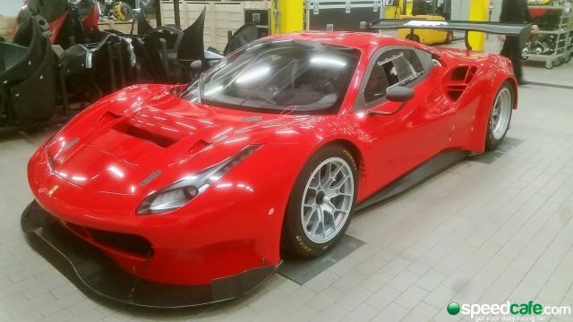Maranello Motorsport's Ferrari 488 GT3 awaits shipment