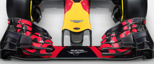Aston Martin features on the nose of the RBR F1 cars