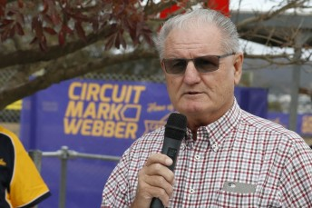 Alan Webber speaking at the launch of Circuit Mark Webber