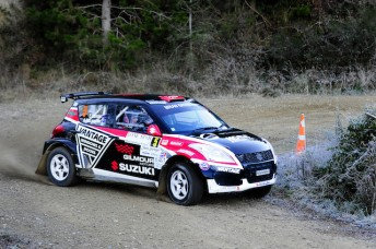 Emma Gilmour has became the first female to win a national rally championship round in New Zealand. Pic: Kate Ridder