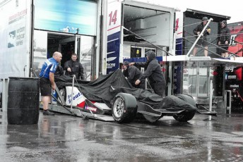 IndyCar has rescheduled the Pocono race for tomorrow after heavy rain hit the tri-oval