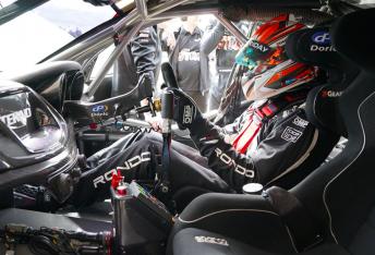 Nathan Morcom enjoyed a run in the Tekno Autosports Commodore