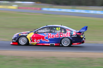 Premat clocked 70 laps in the Red Bull Commodore at Queensland Raceway