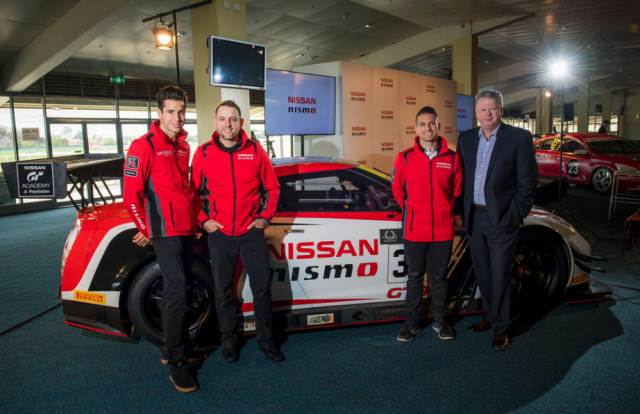 Emery with the GT-R GT3 and Nissan's Supercars stars