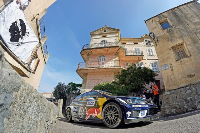 Ogier controlled things at the front in Corsica