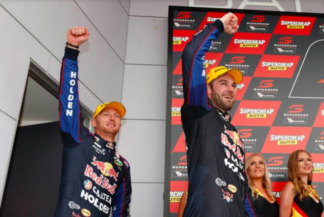Premat and Van Gisbergen on the Bathurst podium