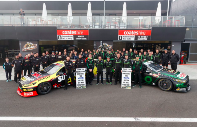 The Prodrive team paid tribute to Ford workers at Bathurst