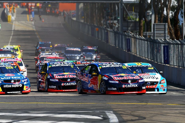 The Supercars field in Sydney