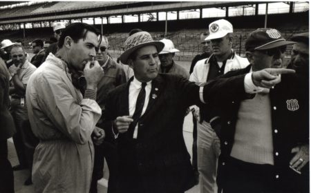 1961 - jack and officials indy 1961