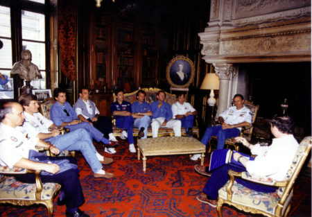 1993 - Le Mans team meeting