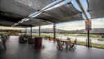 Cafe deck overlooking Highlands track
