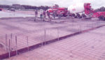 Concreting pit building slab