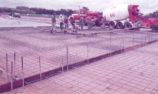 Concreting pit building slab